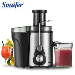 Exprimidores de acero inoxidable de 220V, Extractor de jugo eléctrico de 2 velocidades, máquina para beber frutas para el hogar Sonifer