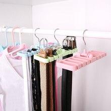 Экономия пространства многофункциональный 8 отверстий вешалка для ремня пластиковая стяжка ремень держатель для шарфов шкаф для хранения одежды органайзер компактные вешалка