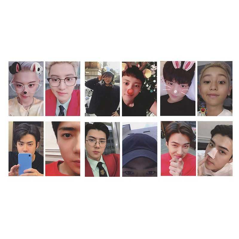 4 cái/bộ KPOP EXO CHANYEOL SEHUN Tự Làm Giấy Lomo Card Thẻ Hình Ảnh Poster HD Photocard Người Hâm Mộ Bộ Sưu Tập Quà Tặng
