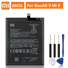 Original Replacement Battery For Xiaomi 9 MI9 M9 MI 9 BM3L Genuine Phone Battery 3300mAh