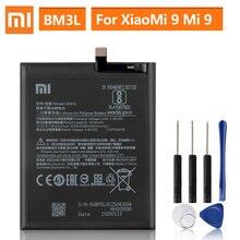 แบตเตอรี่ทดแทนสำหรับXiao Mi 9 MI9 M9 Mi 9 BM3Lของแท้แบตเตอรี่3300MAh