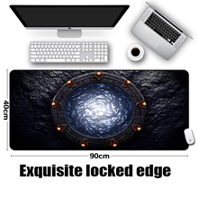 цена на LaumansFamous Sci-fi Movie TV Show Stargate Earth Sg1 Pattern Cool Table Mousepad Mat for Pc Computer Game Gaming Player