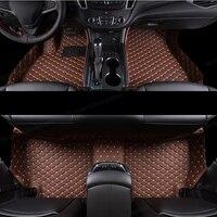 Lsrtw2017 Fiber deri araba zemin Mat için Chevrolet Malibu 2012 2013 2014 2015 2016 2017 2018 2019 2020 halı halı aksesuarları