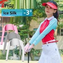 Cuff-Gloves Sleeves Women Golf Summer Silk Cycling-Cuff Shawl Sunscreen Ice-Silk-Cuff
