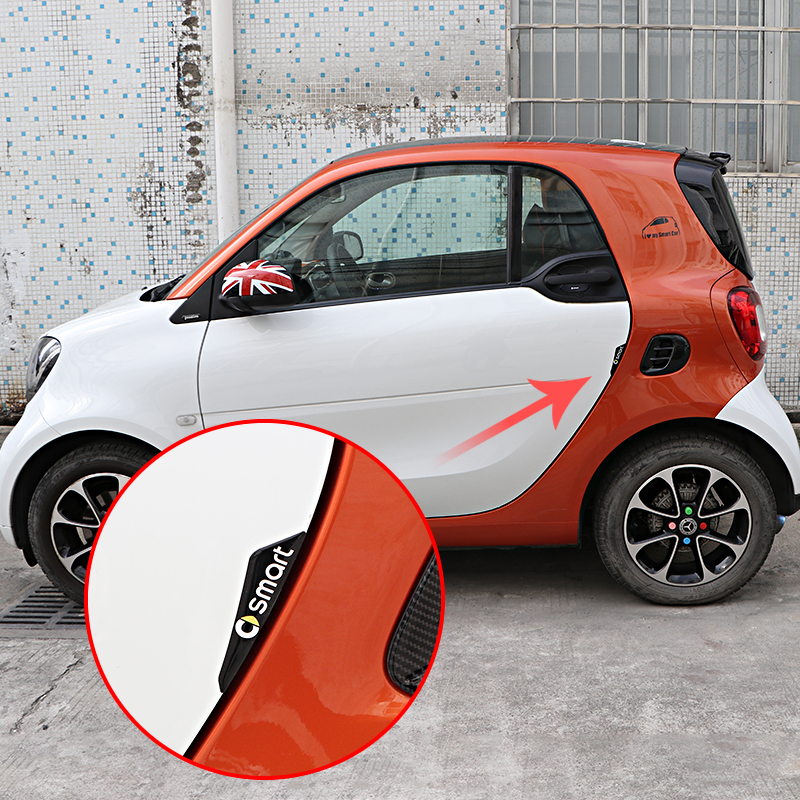 Car Door Protection Sticker Exterior Anti-collision Accessories Logo Decoration For Mercedes Smart 450 451 453 Fortwo Forfour