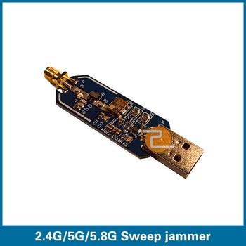 S ROBOT 2.4G 5G 5.8G WiFi Sweep Jammer Shielder 2.4Ghz 5Ghz 5.8Ghz WiFi Disturber jammer development board EC5 c graupner ach welchen jammer bringt die sunde gwv 1153 43