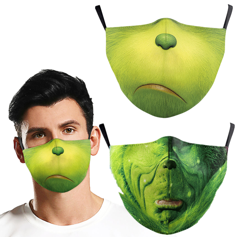 How The Grinch Stole Christmas Face Mask Cosplay Adult Dustproof Masks