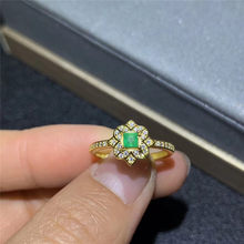 Wedding Ring Natural Real Colombia Emerald ring Wedding Ring Free shipping Natural real Colombia emerald 925 sterling silver