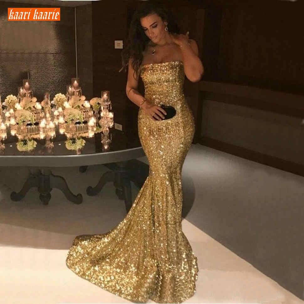 schaum liebsten gold pailletten meerjungfrau abendkleider silber sweep zug  formale kleid slim fit roten teppich abend party kleider