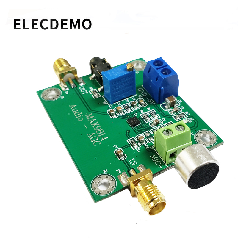 MAX9814 Microphone Amplifier Module Audio AGC Microphone Sensor Pickup MIC Microphone Sound