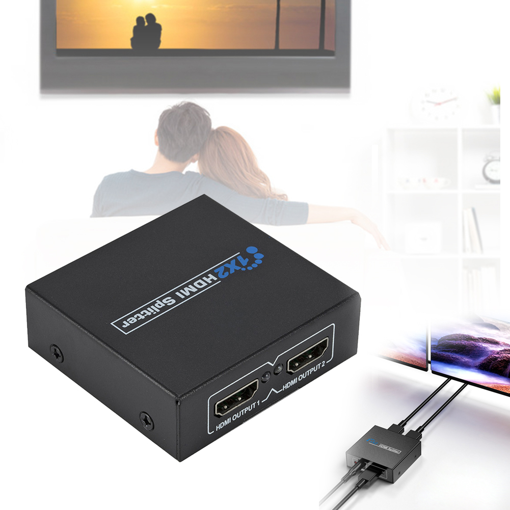 HDMI Splitter 1 In 2 Out HDCP Powered 1080P HDMI Splitter For Xbox PS4 PS3 For Apple TV HDTV ABS Material Four Specifications
