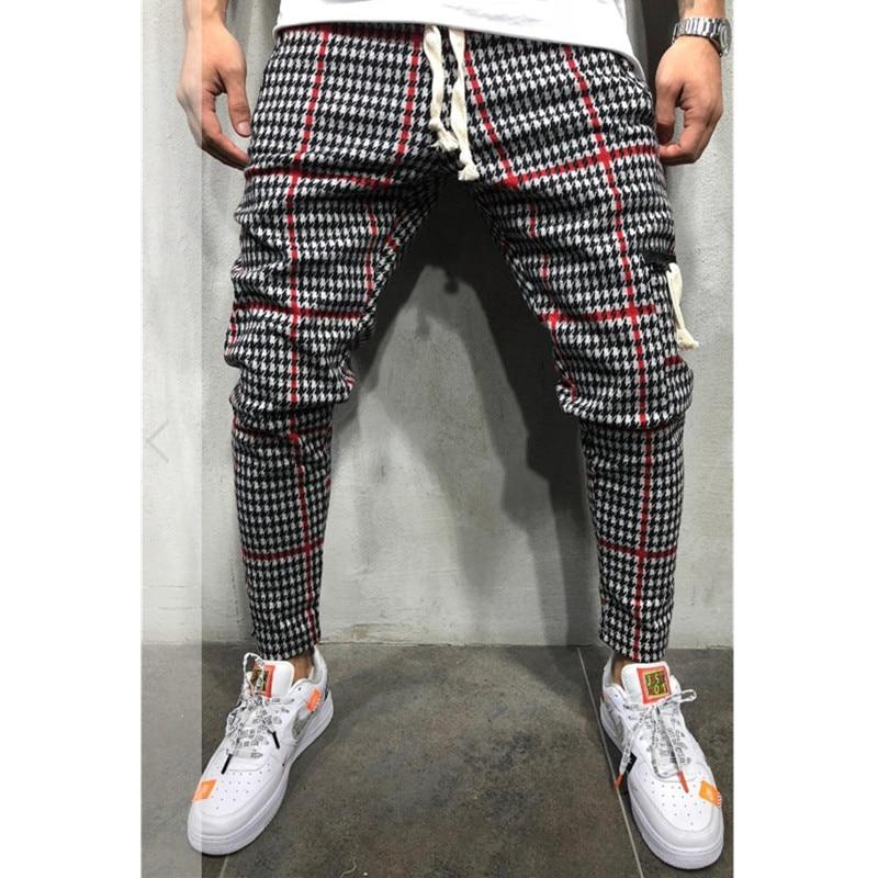 Men's Twill Fashion Jogger Pants New Stripes Urban Straight Casual Pants Slim Fitness Long Pants Hip Hop Pants