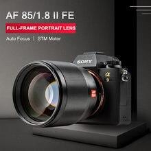 Viltrox 85mm f1.8 mark ii foco automático fixo lente de foco f1.8 lente quadro completo para câmera sony e montagem a9 a7iii a7riii a7sii a6600
