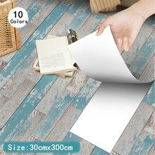 3m à prova dwaterproof água auto-adesivo 3d madeira-grão adesivo para piso cozinha banheiro pvc telhas adesivo diy decoração de casa papel de parede