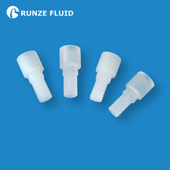 Medical Grade Plastic Stoppers Coned Plugs Male Metric M6 Standard 1/4-28UNF to Close Off Unused Flat-bottom Ports Super Quality