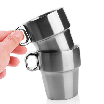 Free Shipping Two-Layer Stainless Steel Water Cup Foldable Seven-Piece Insulated Coffee Cup