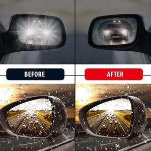 Image 5 - Auto Specchietto retrovisore Accessori Auto Decorazione di Interni Anti Fog Membrana Impermeabile Antipioggia Finestra Pellicola Protettiva 2pcs