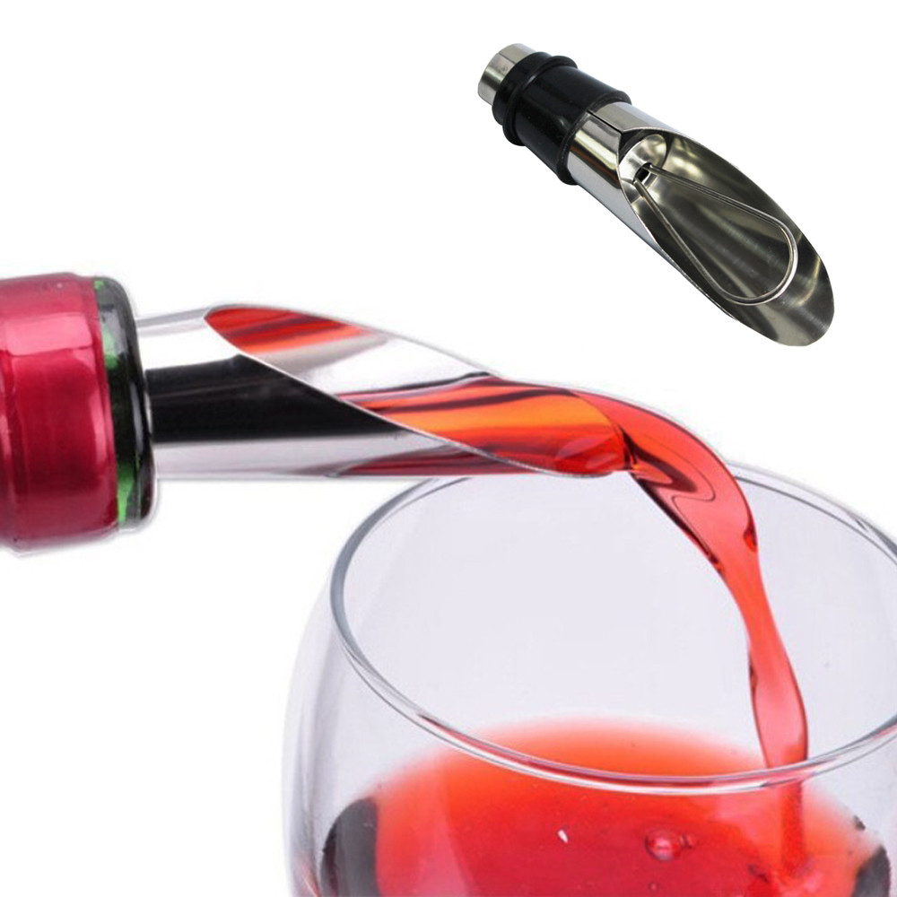 Red Wine Pourer Stainless Steel Red Wine Pourer Drop Stop Pouring Disk Pour Spout Wedding party bar tools
