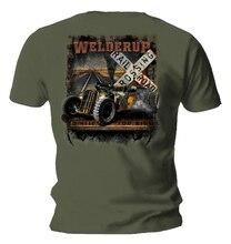 Official WELDERUP Garage Custom Hot Rod T Shirt Train Car Rail Road Rat
