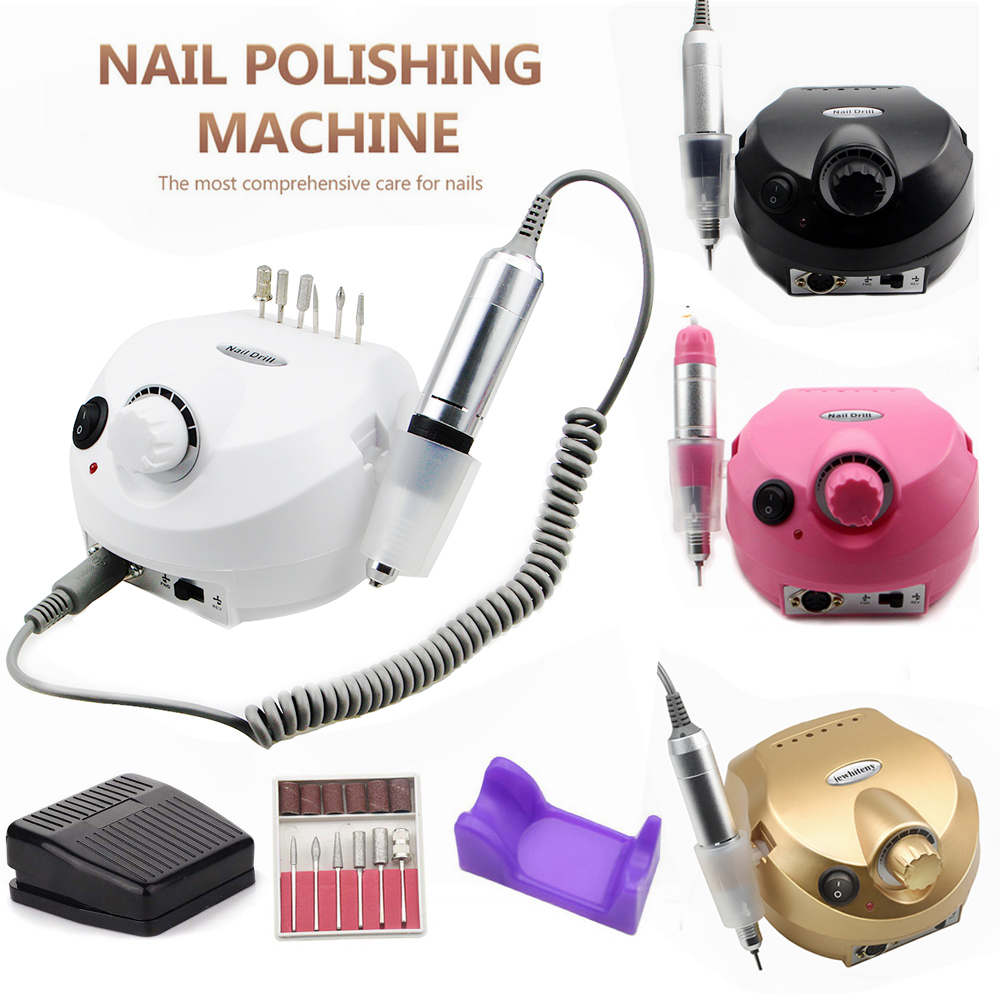 Nail Drill Machine 35000RPM Pro Manicure Machine Apparatus For Manicure Pedicure Kit Electric Nail File With Cutter Nail Tool
