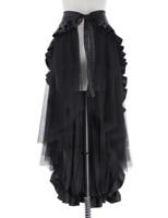 women Skirt Steampunk Retro Victorian Lolita Punk Ruffled Long Lace Up waist Asymmetric girls fashion Open Skirt
