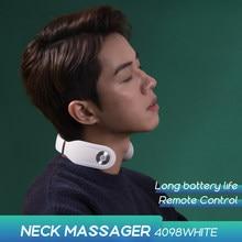 SKG Massager For neck Remote Control Hot Compress TENS Electric Pulse Smart Neck Massager Cervical Pain Relief Long Battery Life