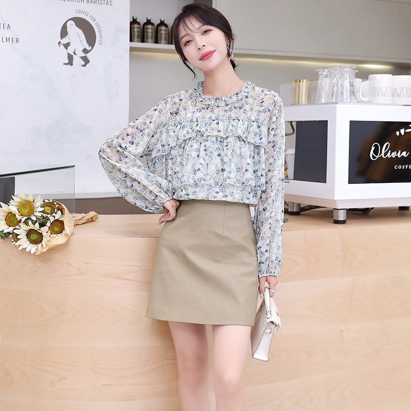 Korean Fashion Woman Print Blouse Shirts Elegant Women Chiffon Floral Blouses Shirt Plus Size Blusas Mujer De Moda Women Blouses in Blouses amp Shirts from Women 39 s Clothing