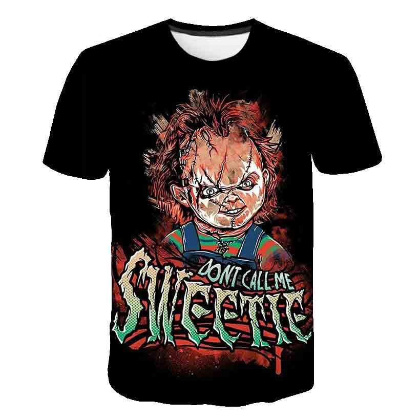 Sketch the clown 3D Printed T Shirt Men Joker Face Casual O-neck Male tshirt Clown Short Sleeved joke Funny T shirts puls 6XL