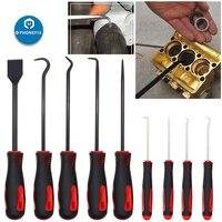 PHONEFIX 9pcs Precision Car Hook Craft Hand Tools Car O-Ring Oil Seal Puller Remover Pick Set Hook Scraper Kit for Auto Repair