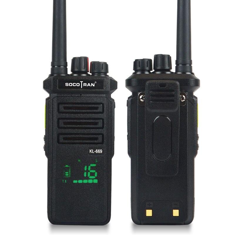 SOCOTRAN Walkie Talkie Intercom Handheld Vhf Radio 10W High Power 6800MA Lithium Battery 10km Long Standby For Outdoor Hotel