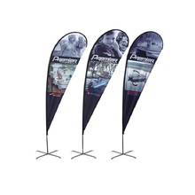 Custom Print Advertising Teardrop Flag Single Sided Print Your Logo Outdoor Commercial Promotional Banner With Pole And Base