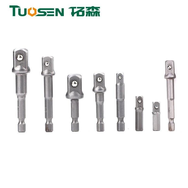 Tuosen Pneumatische Socket Adapter Voor Impact Driver W/Hex Schacht Vierkante Socket Boren Bar Extension Set 1/4