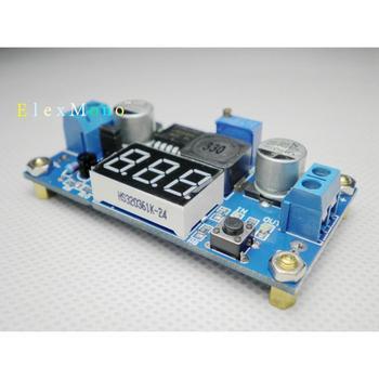 DC-DC BUCK 4-40V to 1.25-37V Voltage Converter Step-Down Module * LED Voltmeter * with Heat Sink genuine ultrafire 26 5mm led drop in module silver golden dc 4 2v