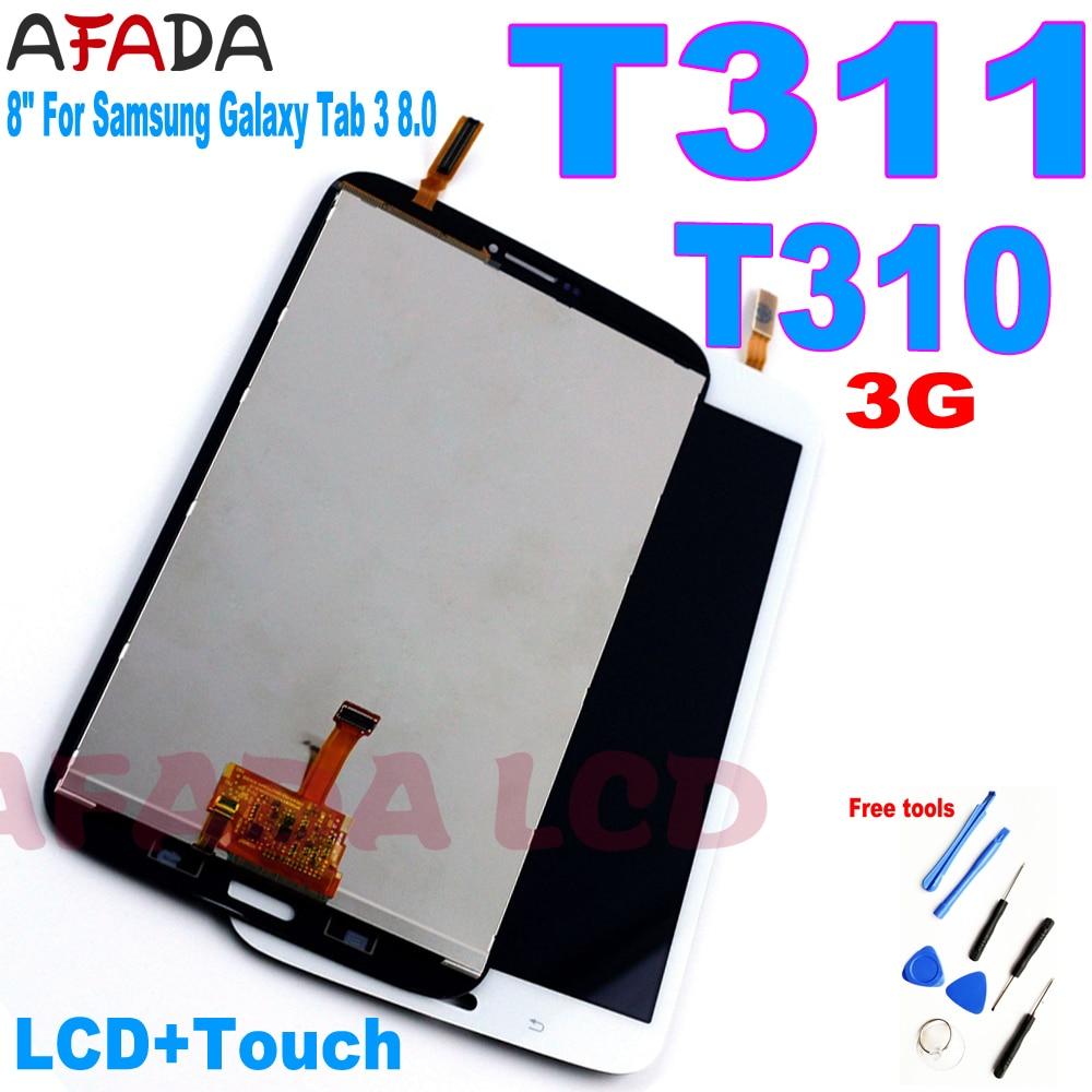 Сменный ЖК-дисплей для Samsung Galaxy Tab 3 8,0, 8 дюймов, сенсорный экран с цифровым преобразователем в сборе для Samsung Galaxy Tab 3 8,0, T310, Wi-Fi/T311, 3G