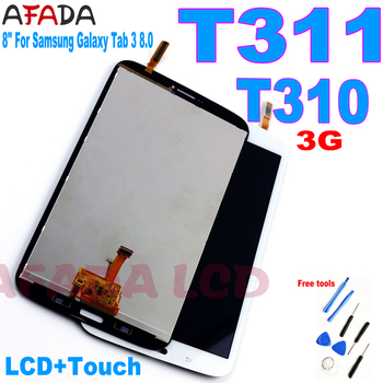 8 For Samsung Galaxy Tab 3 8.0 SM-T310 SM-T311 LCD Display Touch Screen Digitizer Assembly T310 WIFI /T311 3G LCD Replacement free shipping for samsung galaxy tab 3 8 0 sm t310 t310 wifi touch screen digitizer glass lcd display assembly replacement