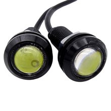 цена на 18 MM 12V Car Eagle Eye DRL Led Daytime Running Lights LED Backup Reversing Parking Signal Automobiles Lamps DRL Car styling