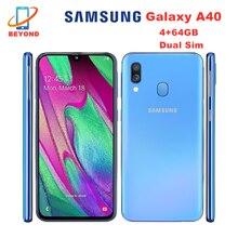 Samsung galaxy a40 duos a405fn/ds celular duplo sim 4gb ram 64gb rom versão global 5.9