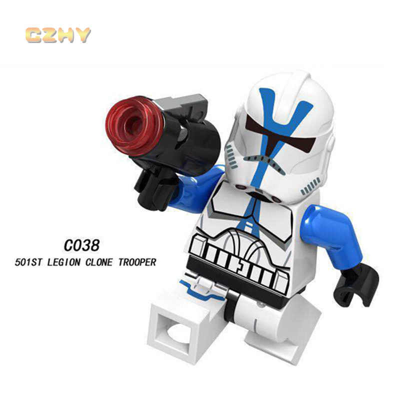 Luca Shywalker star Wars ed Blocchi di Costruzione Spazio Obi-Wan Kenobi Emperor Guardia Reale Darth Vader Giocattoli Per Bambini regali c024