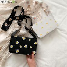 Small Fresh PU Leather Shoulder Bags Women Girls Floral Printed Crossbo