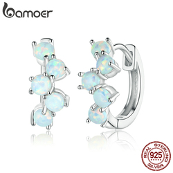 bamoer Genuine 925 Sterling Silver Dreamy Bubbles Plated platinum Stud Earrings for Women Fine Jewelry 2020 New Bijoux SCE941