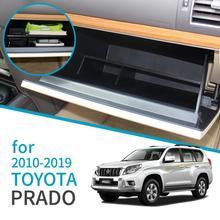 Car Glove Box Interval Storage Box for Toyota Land Cruiser Prado 150 2010~2018 LC150 J150 FJ150 Accessories Co pilot storage box