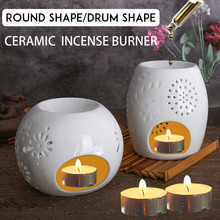 Difusor de Perfume de cerámica Vintage, lámpara de aromaterapia, quemador, calentador de aceite esencial, SPA, Yoga, soporte para aromas, estufa