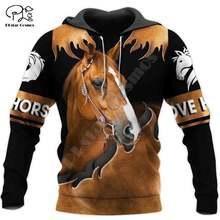 Plstar cosmos 3dprint охотничья лошадь Животное Унисекс harajuku