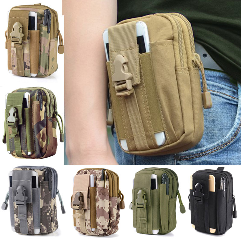 Sport Pocket Men Tactical Belted Bags Military Waist Pack Running Pouch Leisure Wallet Outdoor Camouflage Bag Climbing Peridiol