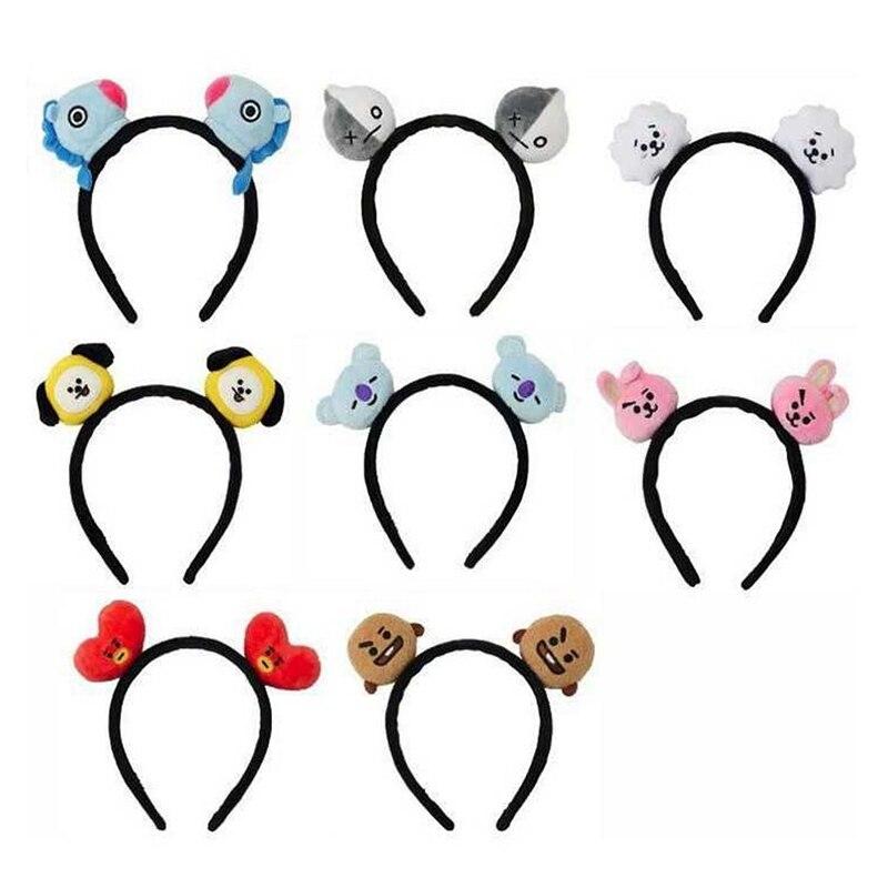 Bangtan Boys Hairband Headband For Girls Kids Cute Kawaii Korean Style Head Band Plush Hair Hoop Accessories Gifts Kpop Headband