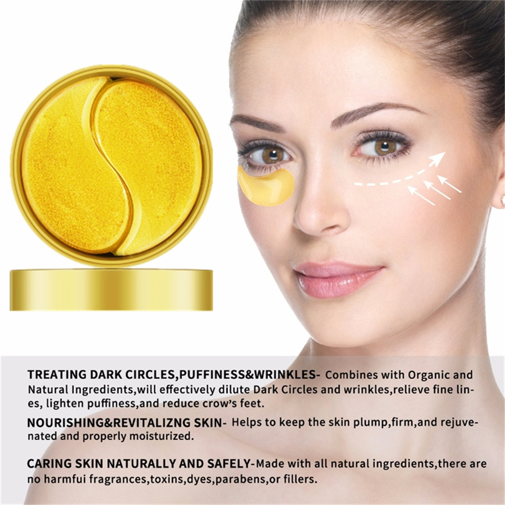60Pcs Gold Collagen Cream Under Eyes Mask Snail Crystal Hydrogel Patches ForAnti-puffiness Eyelid Patch Anti-Wrinkle Mask New