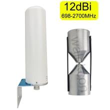 12dBi GSM 2G 3G 4G 690 2700mhz WCDMA 2100 LTE 1800 2600 휴대 전화 신호 안테나 외부 핸드폰 무 지향성 안테나