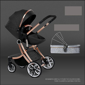 Free Shipping 2020 New 2 in 1 Baby Stroller High Landscape Carriage double-sided newborn car Similar to Aulon babyfond
