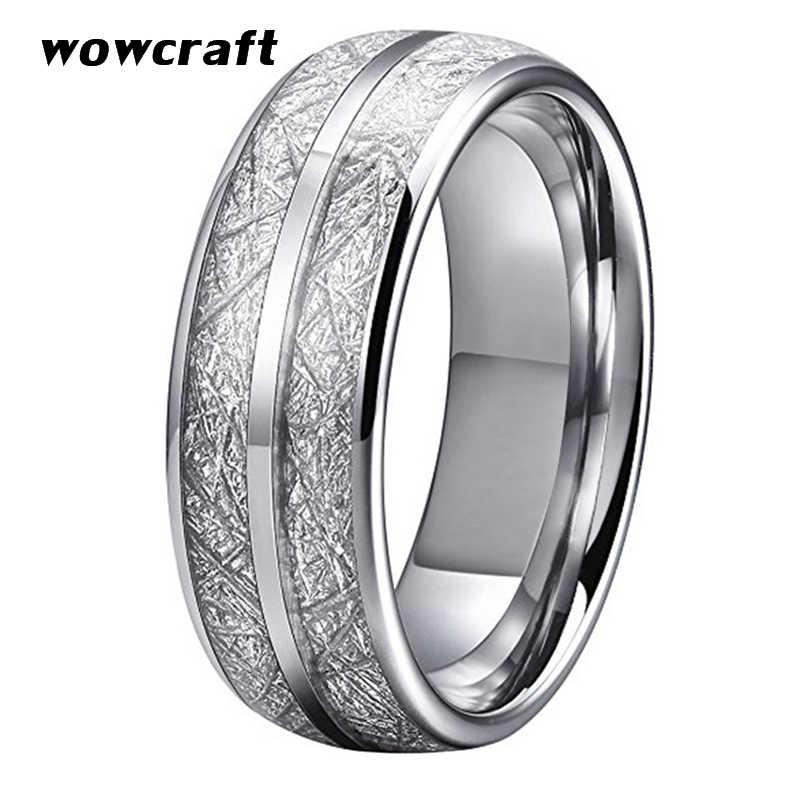 8mm Wedding Bands Tungsten Carbide Rings Silver For Men Women