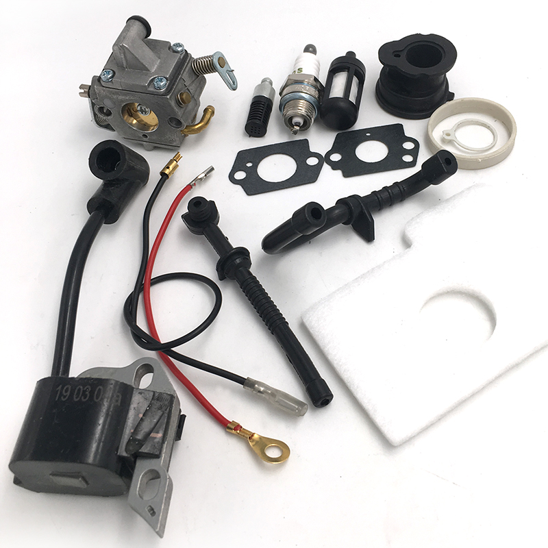 Spark Plug Carburetor Ignition Coil Intake Manifold Kit For Stihl MS170 MS180 170 180 Chainsaw Parts 1130 120 0608 1130 400 1302